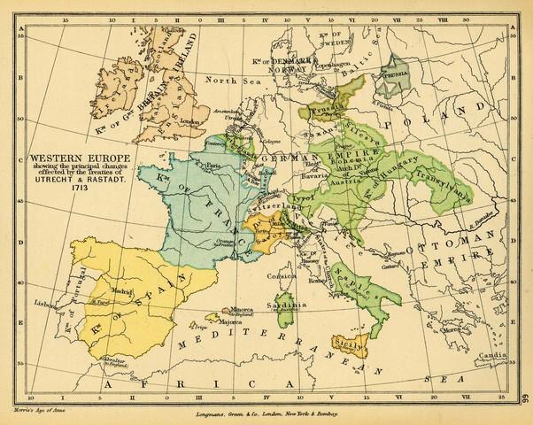 Guerra de Sucesión española - Tratado de Utretch