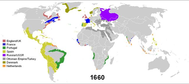 Colonias al año 1660
