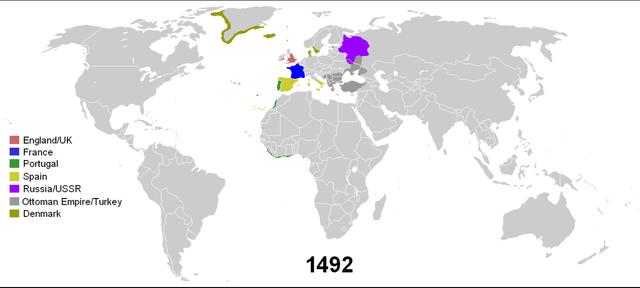 Colonias al año 1492