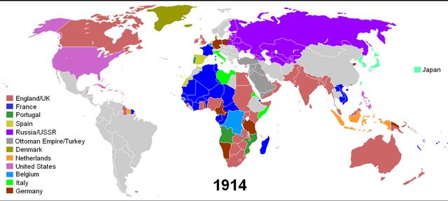 Colonias al año 1914
