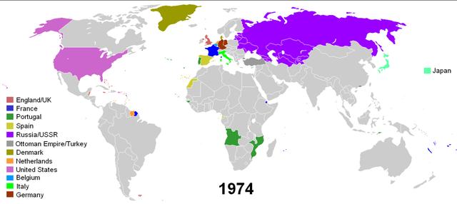 Colonias al año 1974