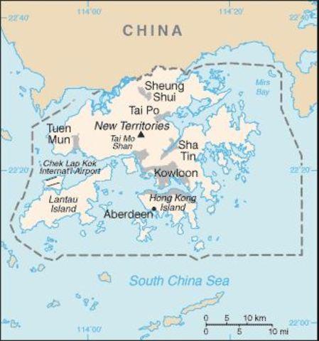 EL Reino Unido devuelve Hong Kong a China