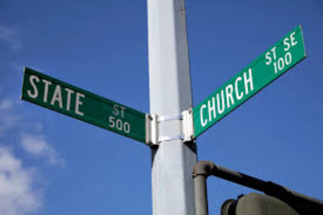 Churches and state are legally seperated