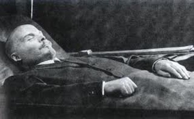 Death of Lenin the great