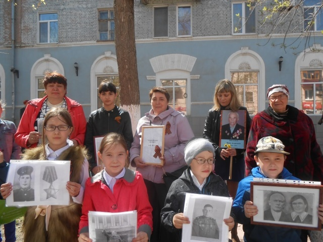 Сотрудники детского сада «Колокольчик» приняли активное участие во Всероссийской акции «Бессмертный полк».