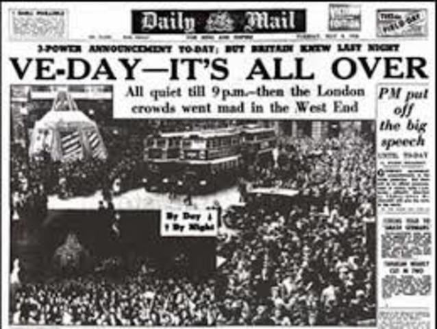 V-E Day aka Victory in Europe Day - End of WWII in Europe