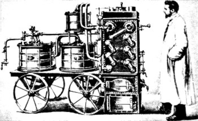Invención maquina de vapor