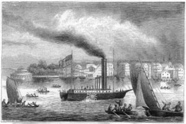 Invención barco de vapor