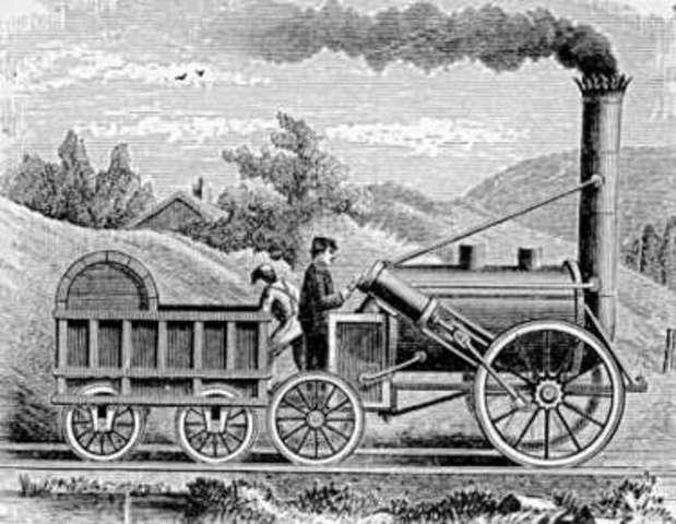 Invención del locomotora a vapor