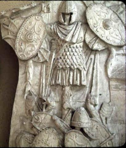Daciers werden onderworpen door keizer Trajanus