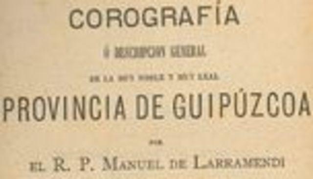 """1756: Burnioletan lana euskaraz egiten zen. Hala erakusten du Larramendik bere """"Coreografía de Guipuzcoa"""" liburuan"""