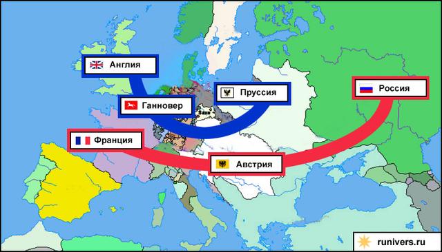 Начало Семилетней войны (1756-1763)