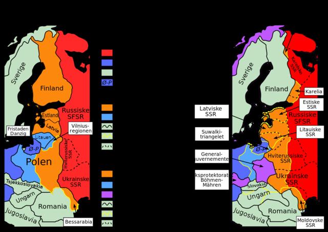 Sovjetunionen angriper Finland