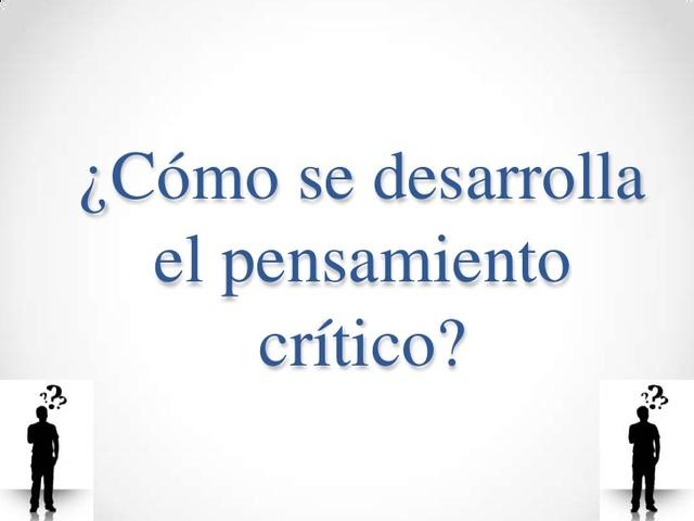 Definicion Pensamiento Critico