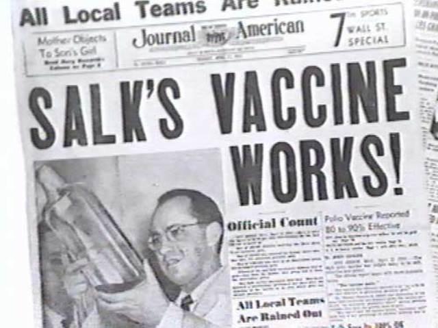 Polio vaccines begin