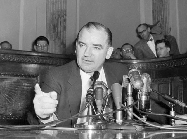 McCarthy Congressional hearings looking for communists