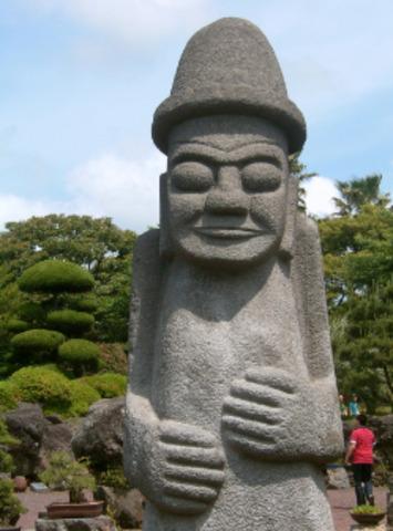 I went to the Jeju island with my friend.