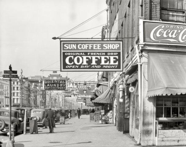 Sun Coffee Shop: 1935 by Walker Evans  (pt.1)