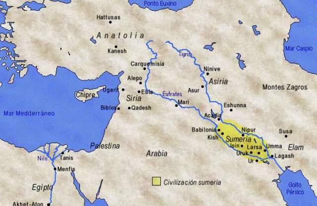 Acadios conquistan Sumeria