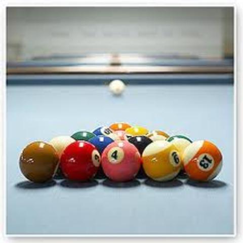 I leaded billiard club in University.