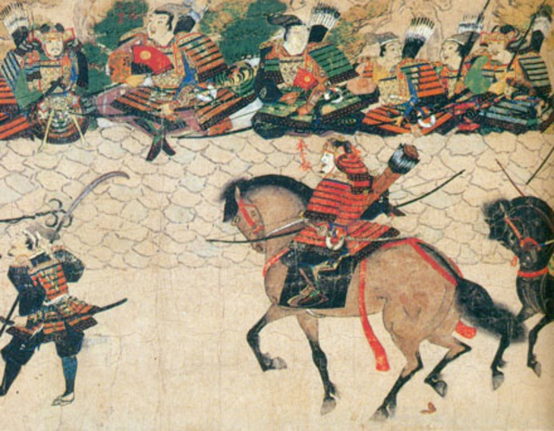 The Mongols, Led by Kublai Khan, Attempt to Invade Japan, but Fail when a Typhoon Destroys much of the Mongol Navy~ 1274