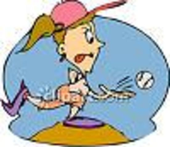 Once I got tired of dance, I started playing softball at Semmes Ball Park
