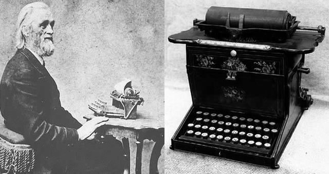 Invención máquina de escribir