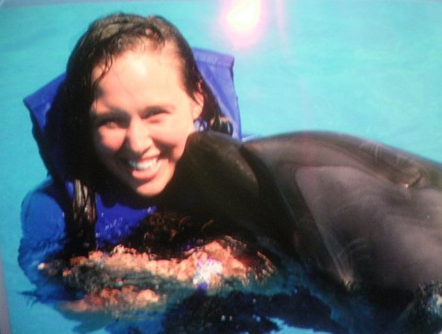 I swam with the dolphins