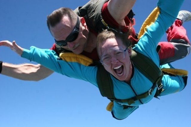 I jumped out of a perfectly good airplane