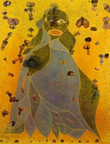 """""""Holy Virgin Mary"""" Painting by Chris Ofili"""