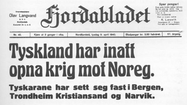 Tyskland okkuperer Norge (og Danmark)