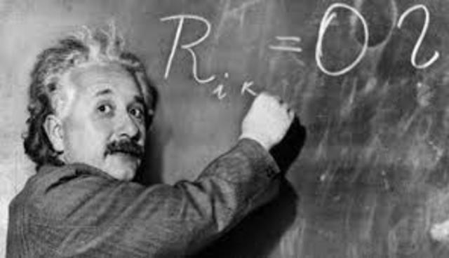 Albert Einstein publica la teoría  de la relatividad general