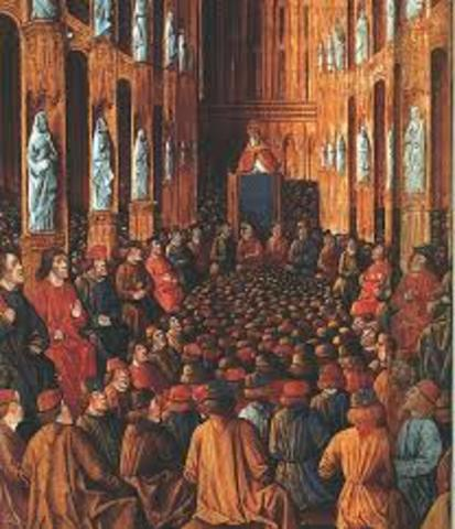 Pope Urban Preaches at the Council of Clermont
