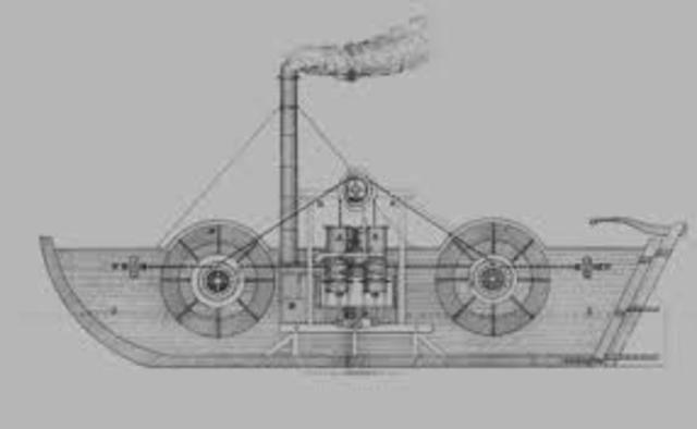 Invención del barco a vapor