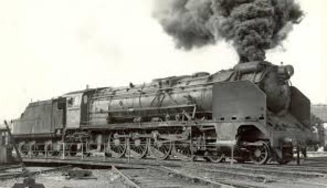 Invención de la locomotora de vapor