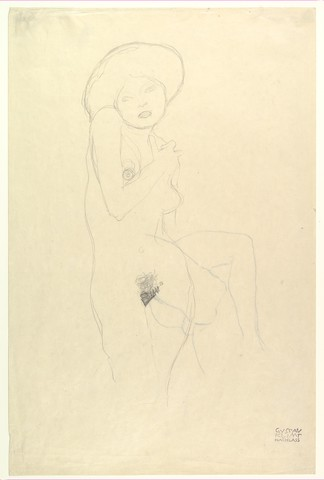 GUSTAV KLIMT « étude de nu»