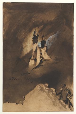 VICTOR HUGO «Souvenir d'un château dans les Vosges»