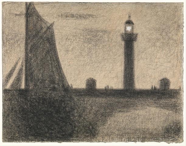 GEORGES SEURAT «Le phare d'Honfleur»