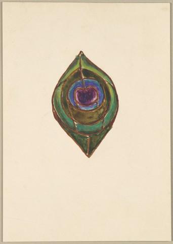 LOUIS COMFORT TIFFANY «Etude d'une plume de paon»