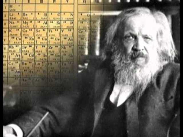 La tabla periódica  de Mendeleiev