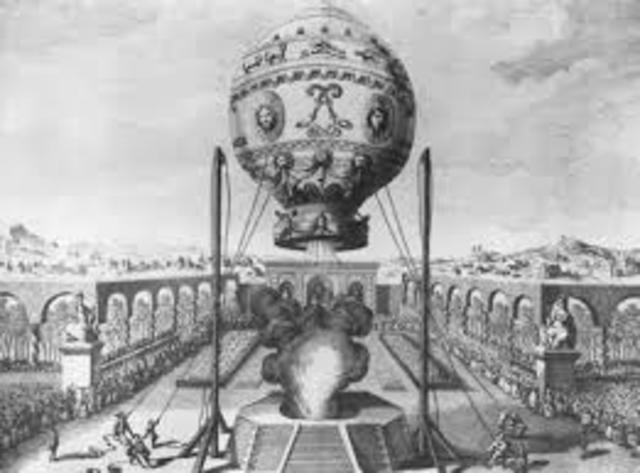 El primer vuelo en globo