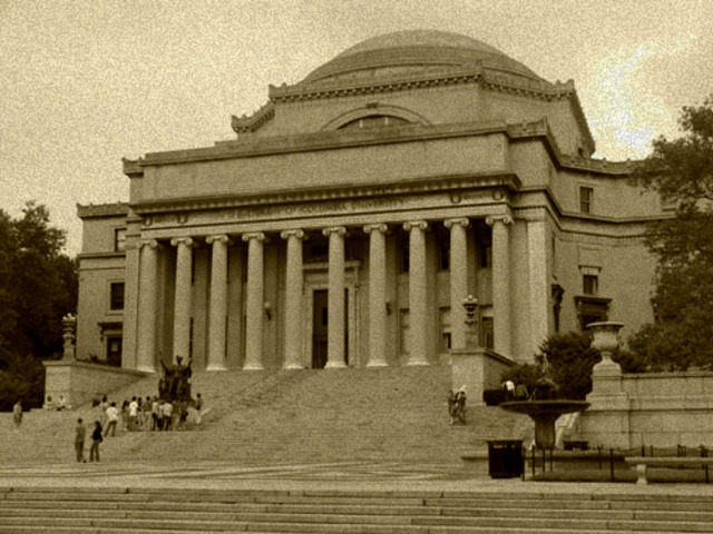 Enrolls at Columbia University, New York