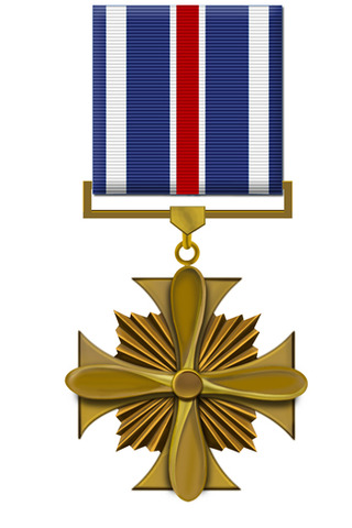 Is awarded the Flying Cross