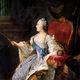 Profile portrait of catherine ii by fedor rokotov (1763  tretyakov gallery)