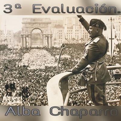 Eje Cronológico 3ª Evaluación Alba Chaparro timeline