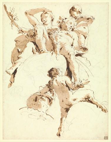 GIOVANNI BATTISTA TIEPOLO «Bacchus et Ariane»