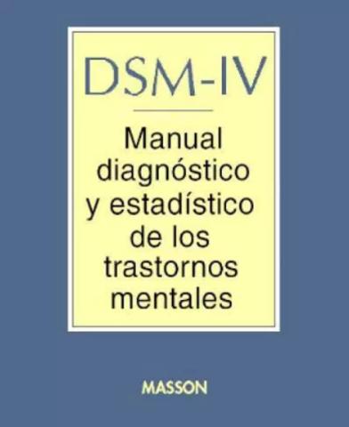 DSM Incorporación nuevos trastornos DSM IV
