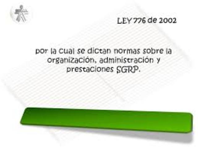 LEY 776 EN COLOMBIA