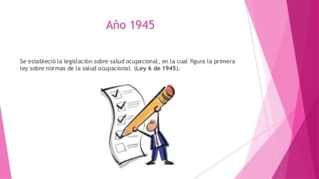PRIMERA LEY DE SALUD OCUPACIONAL EN COLOMBIA