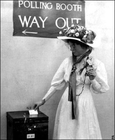 South Australia grants women suffrage